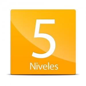 5 niveles de potencia